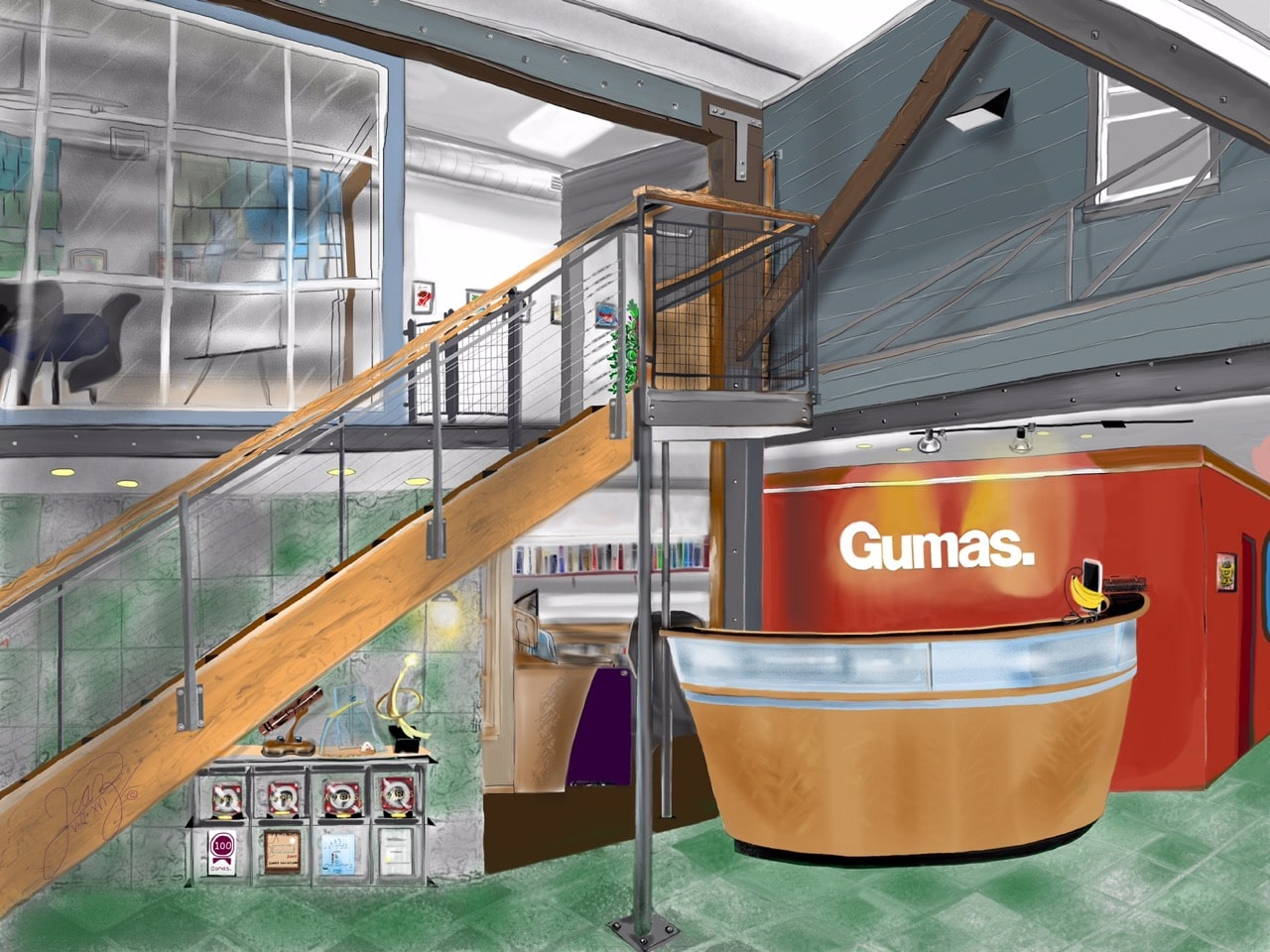Watercolor Office - Gumas